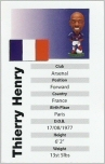 Thierry Henry, France - PR053 - Corinthian - Prostars - Retail Release - Series 2